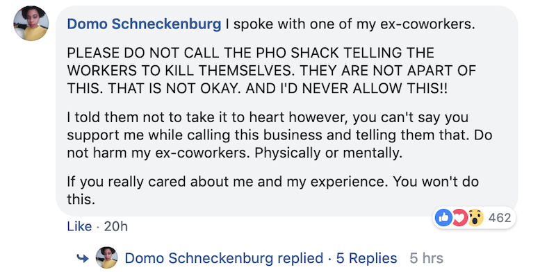 Pho Restaurant Owner Calls Ex-Manager the N-Word for Quitting