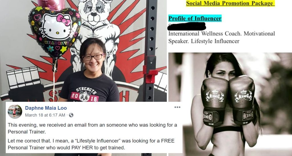 Instagrammer Allegedly Asks Gym for Free Personal Training