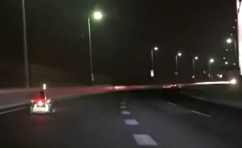 """A real-life """"Mario Kart"""" that sped down a restricted highway and over the Rainbow Bridge in Tokyo is now being chased by local authorities."""