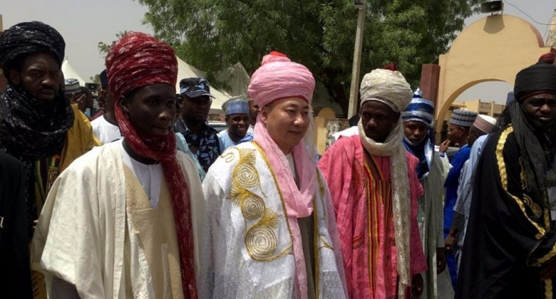 Mike Zhang has been bestowed the honor of becoming a the first Chinese chief of a region in northwestern Nigeria.