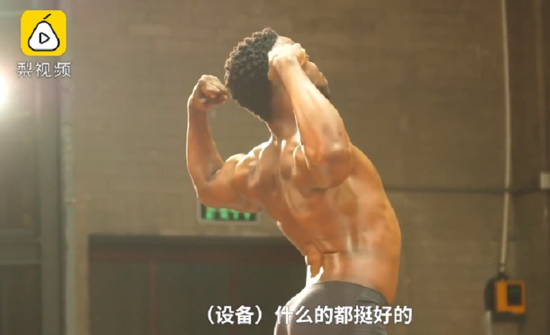 Male students at Tsinghua University in China recently took to the stage to showcase their hunky physique.
