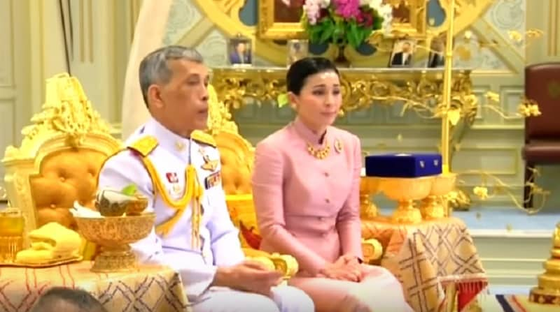 The Thai king has turned the deputy head of his personal security detail into a queen by marrying her.