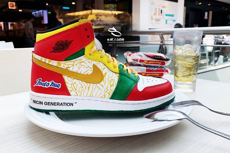A couple of genius sneakers and instant noodle fans have created an unofficial collaboration and it is now going viral online.