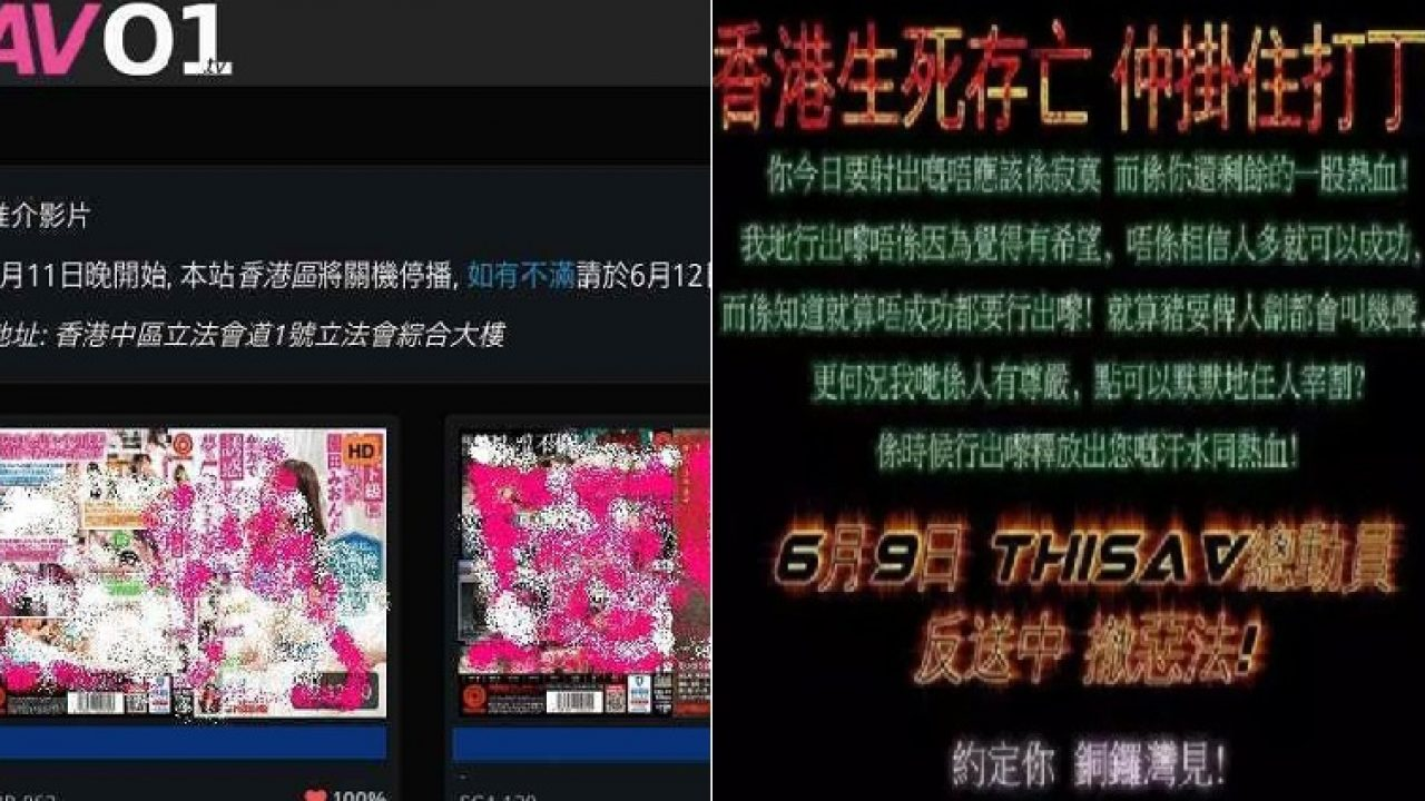 Porn Sites in Hong Kong Shut Down to Encourage People to Protest