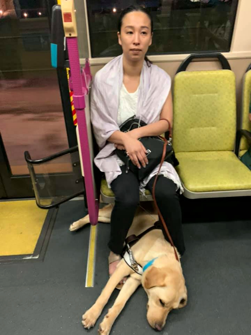 A blind woman commuting with her young daughter and a guide dog in Singapore nearly missed their bus as another passenger became irritated at the sight of the canine and attempted to prevent them from boarding.