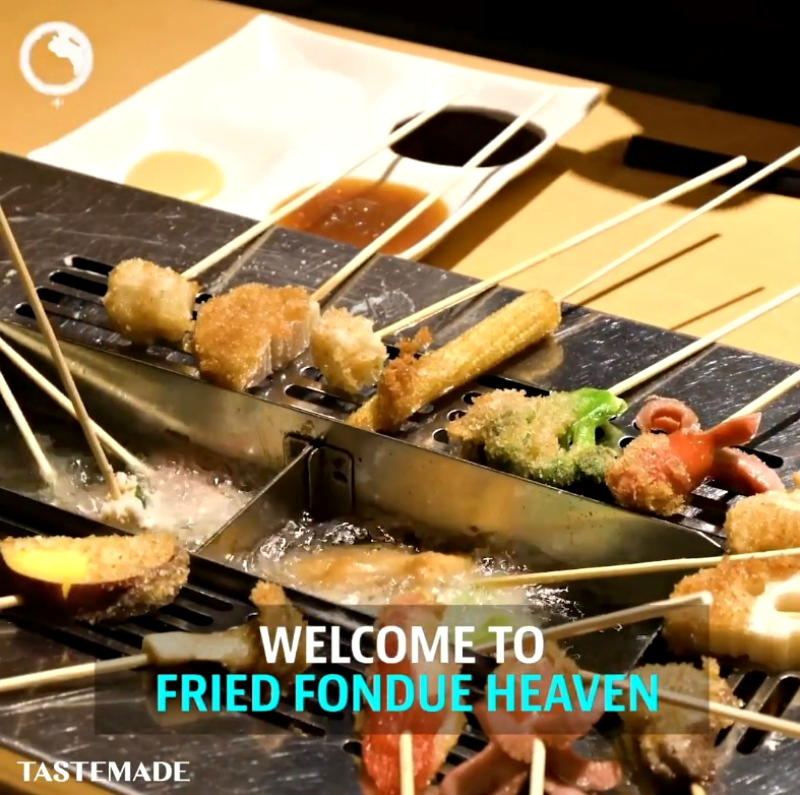 A restaurant in Japan that lets diners batter and fry their food to a perfect crisp is all the rage on social media.