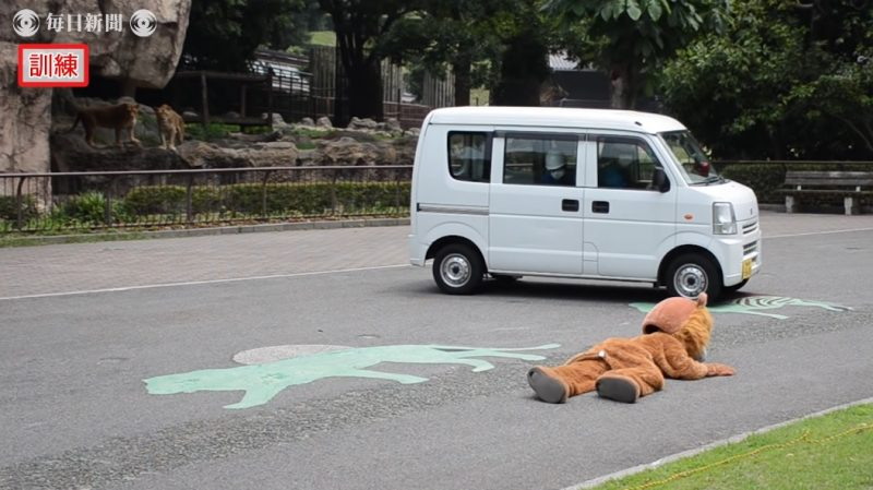 A drill preparing workers at a zoo in Ehima, Japan for an escaped lion has become the laughingstock of the internet over the weekend.