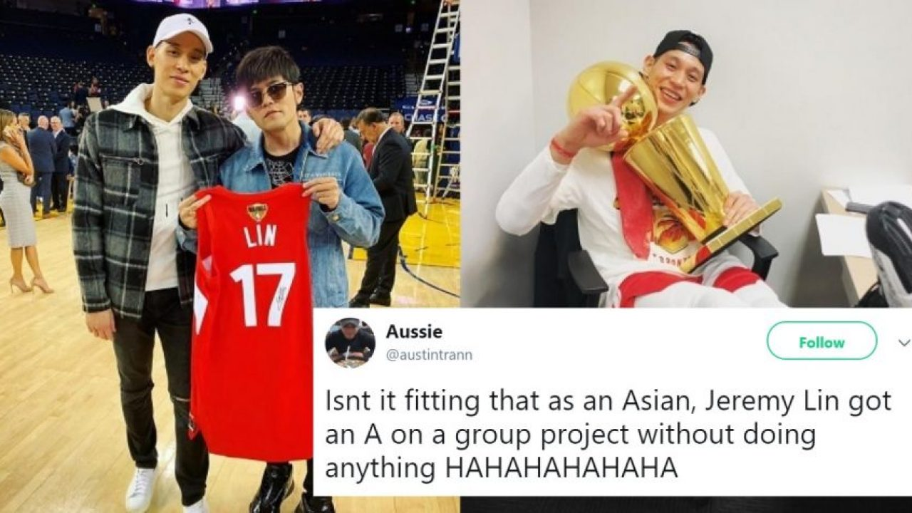 72c625cc236 Jeremy Lin Won the NBA Championship By Playing 1 Minute in the Finals and  Twitter Loves It