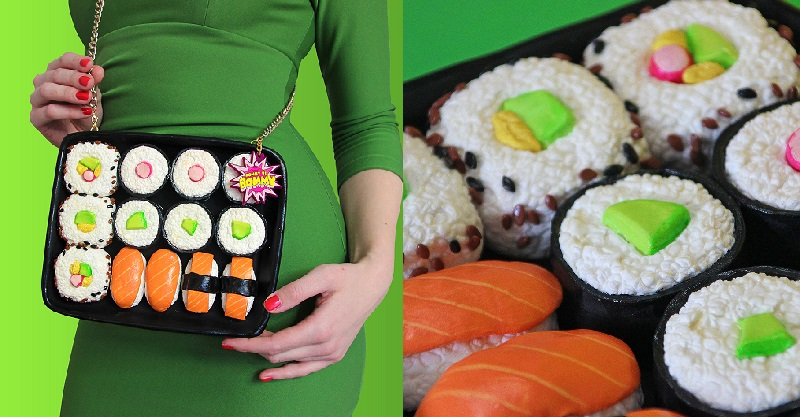 Rommy Kuperus is a Dutch designer who creates delicious-looking handmade bags, purses, necklaces, brooches, and bowties inspired by food.