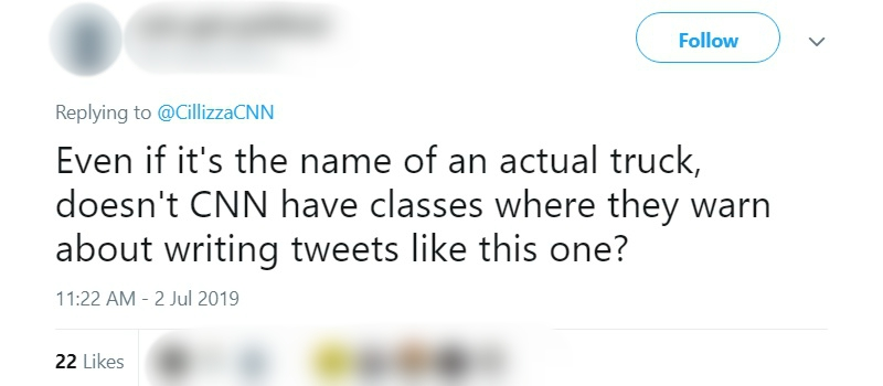 """A political commentator for CNN has come under fire after posting a tone-deaf tweet suggesting """"Miso Honey"""" was an excellent choice for a food truck name."""