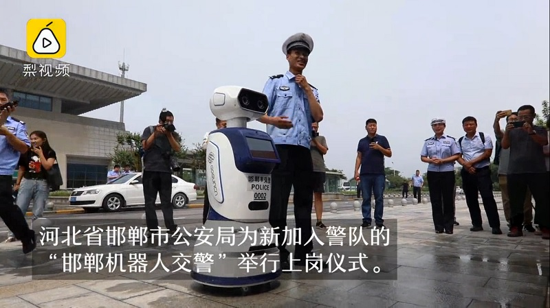 The city of Handan in China's Hebei province has unleashed its futuristic robot police force that is equipped with the latest artificial intelligence and facial recognition technologies.