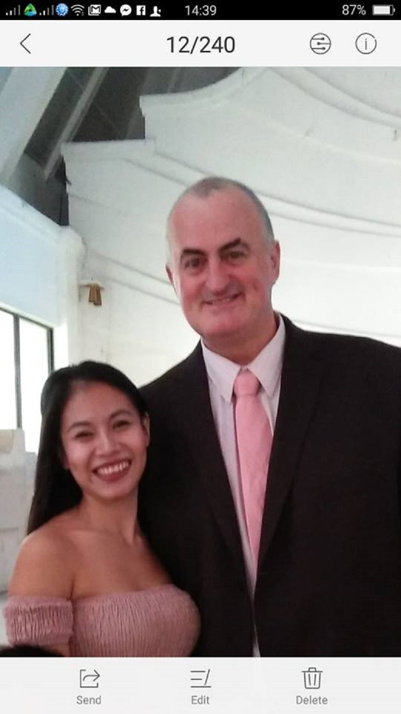 The Filipino girlfriend of a retired policeman from Australia was pregnant when he allegedly staged her death to make it look like a suicide.