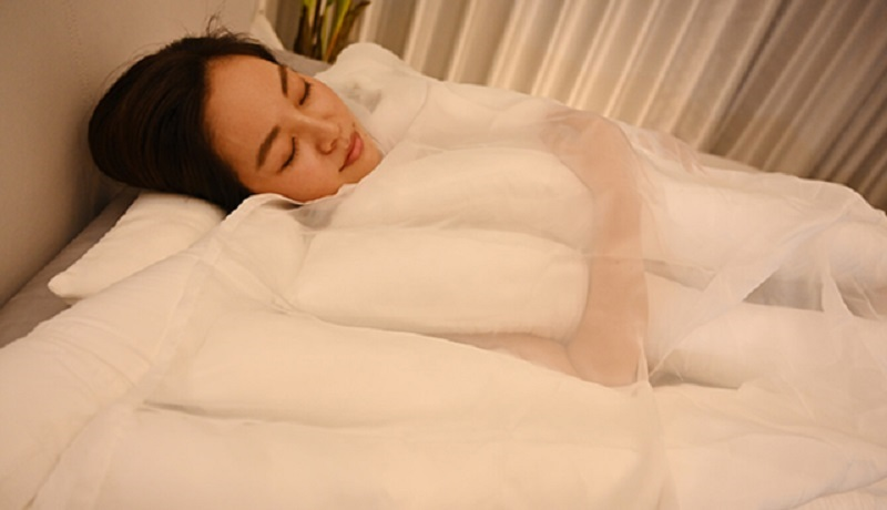 A Japanese firm has just unveiled a strange new blanket that resembles a favorite local noodle type.