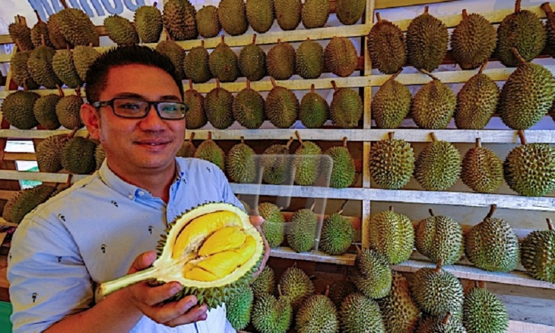 """The durian, dubbed as Southeast Asia's """"king of fruits,"""" is raking in some serious cash for one Malaysian fruit farmer."""