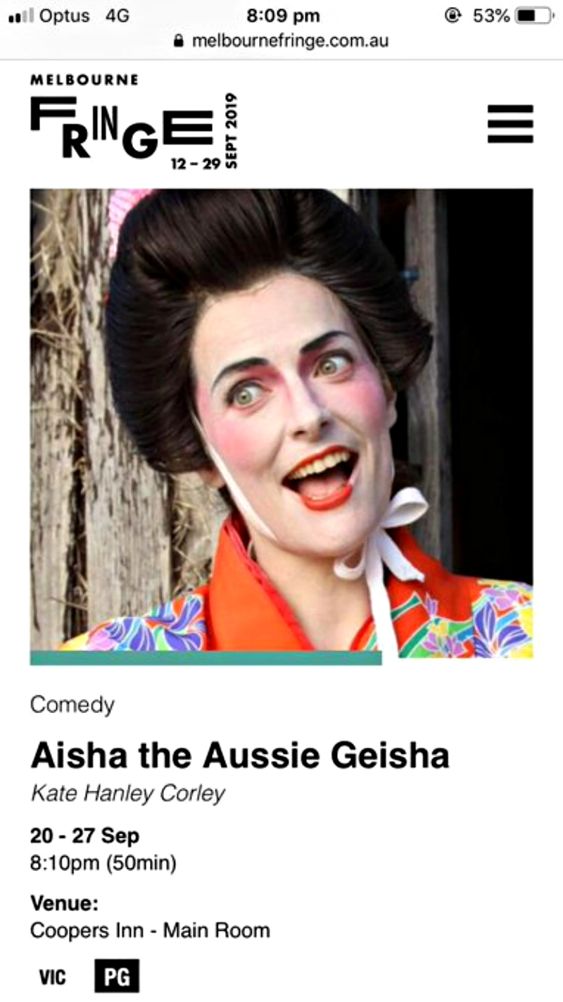 """An Australian comedian was forced to cancel her one-woman show at the upcoming Melbourne Fringe Festival after sparking outrage over her character's use of """"yellowface."""""""
