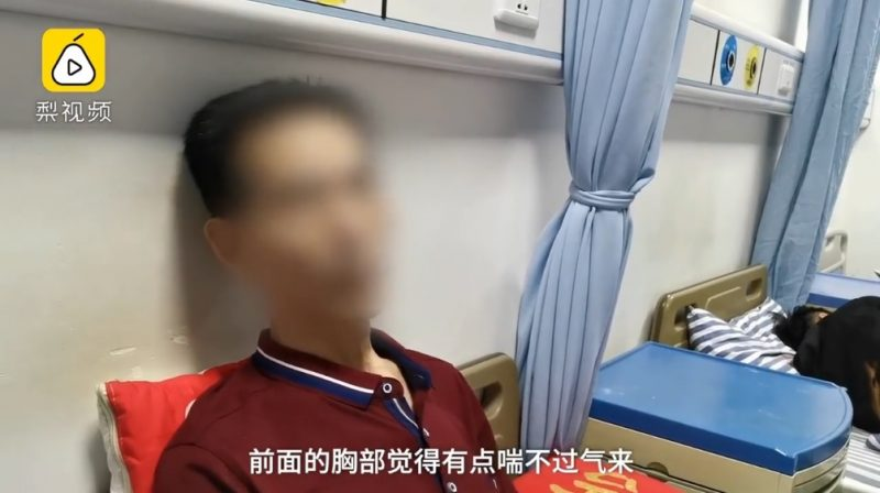A man in eastern China ended up in the emergency room with a collapsed lung after straining too hard to hit high notes at a karaoke marathon.