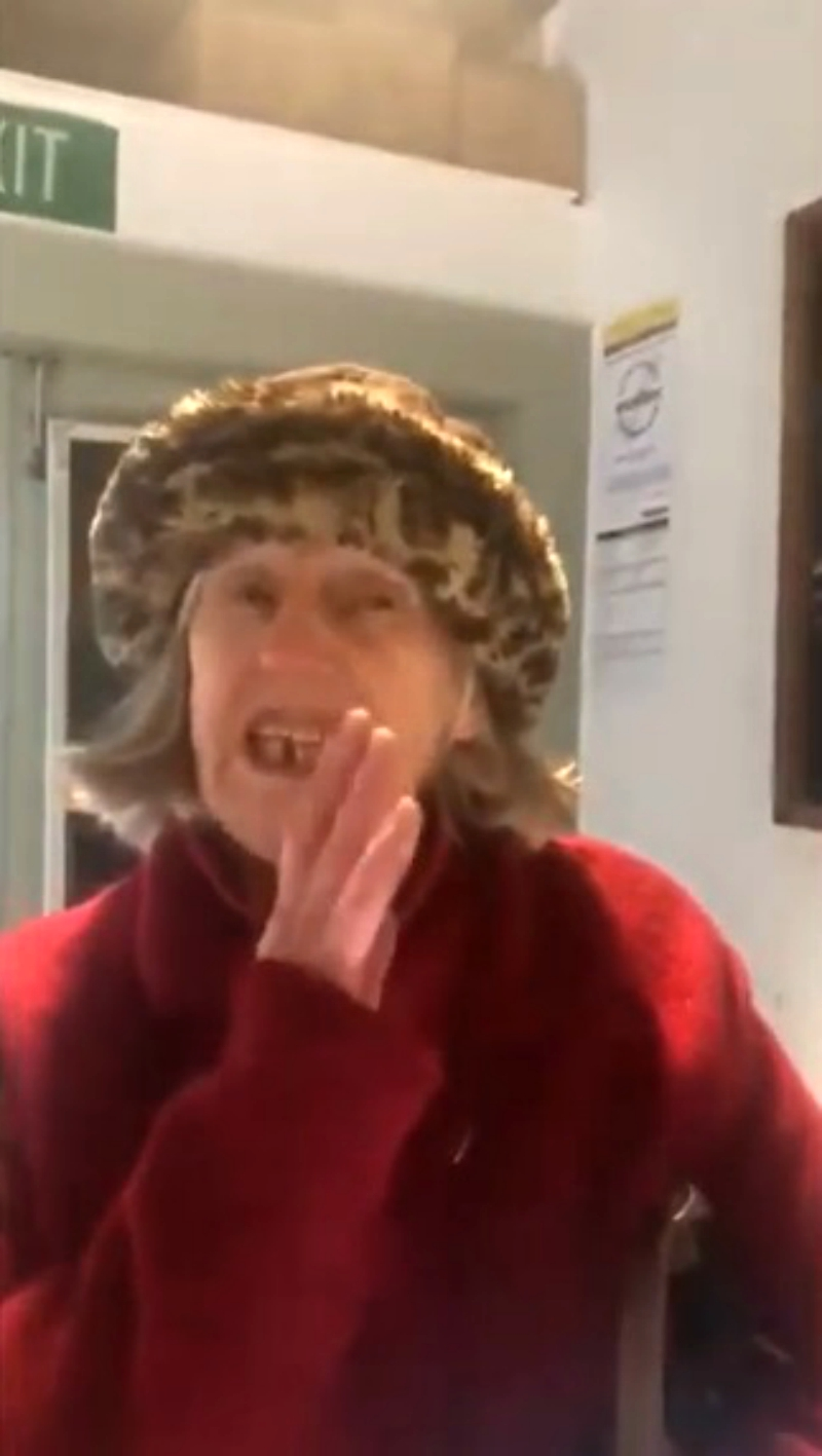 An elderly woman in New Zealand allegedly stormed a vegan restaurant to rant against its dietary principles while insulting its owner with a racially-charged expletive.