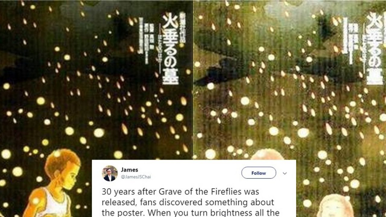 Grave Of The Fireflies Poster Has Heartbreaking Easter Egg Discovered 30 Years After Release