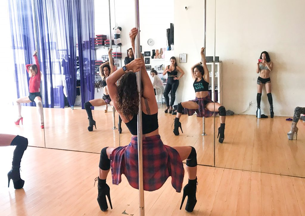 Claudia Renée was one of these instructors -- training Constance behind the scenes for months in Los Angeles and New York, helping her to prepare for her role as Destiny. Despite being an internationally-recognized pole instructor, Claudia regularly teaches students of all levels at BeSpun.