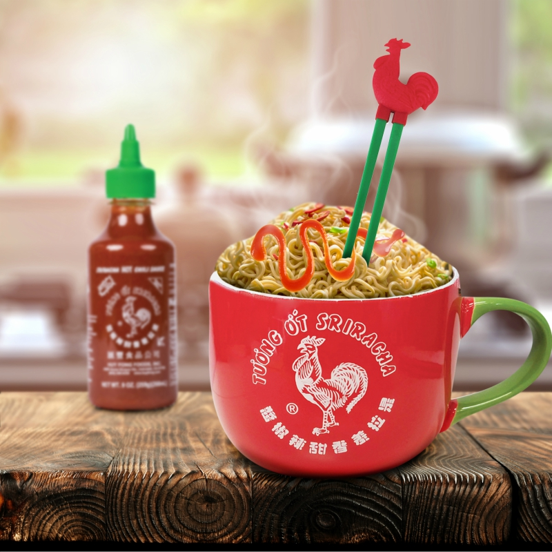 The Sriracha Ramen Noodle Gift Set, which comes under $15, will be available at Walmart starting Nov. 1, Bustle noted.