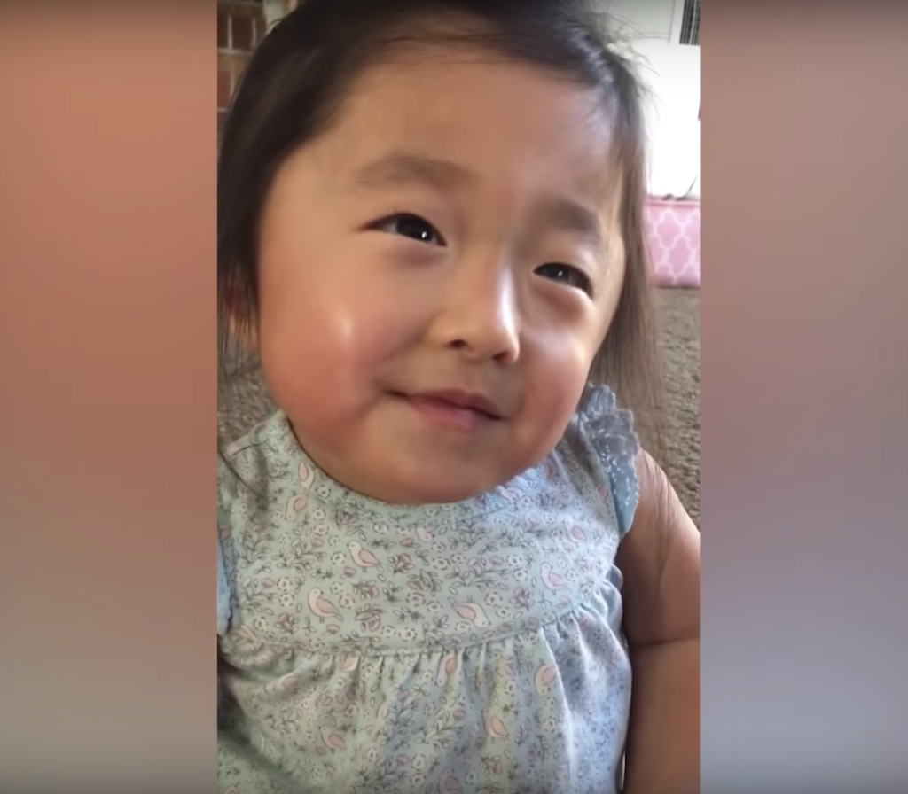 A 4-year-old girl named Gabby has captured the hearts of thousands of viewers after a video of her expressing her love for her adoptive parents went viral on social media.