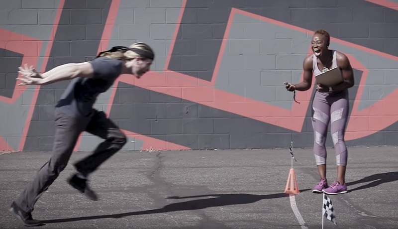 YouTube channel Because Science, which puts many pop culture stuff into real-world tests, did a Naruto Run experiment with a gold medal-winning sprinter.