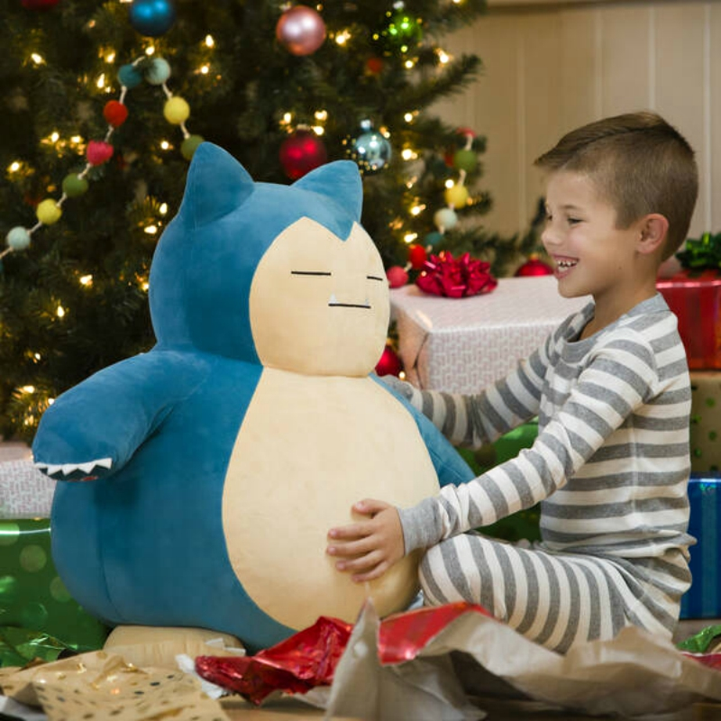 A jumbo-sized Snorlax has joined Build-A-Bear's growing range of Pokémon plushies!