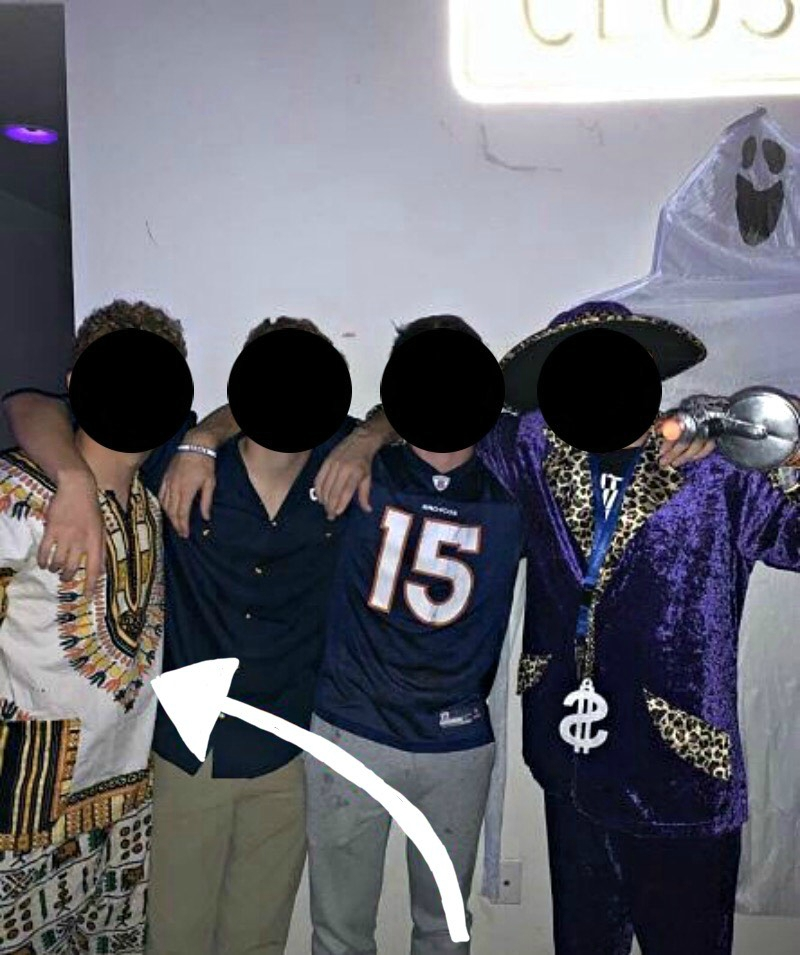 Several students at a private college in Lancaster, Pennsylvania have been accused of racism after wearing costumes that depicted Asian, African and Hispanic stereotypes over Halloween weekend.