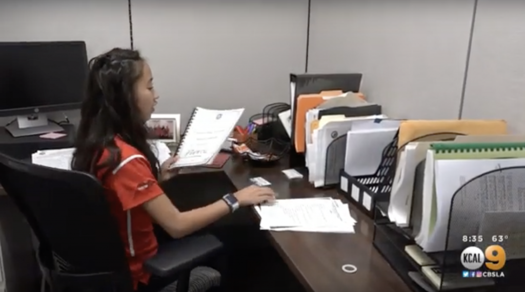 Vivan Yee may only be 14-years-old but she's already thriving at Pierce College in Woodland Hills, California as the president of the Associated Students Organization.