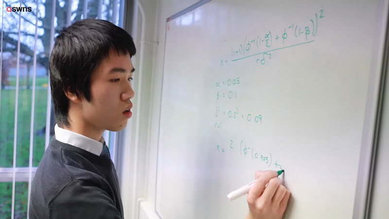 The student, who is known by his friends as Pok, received a first-class honors degree in maths from Open University at just the age of 13