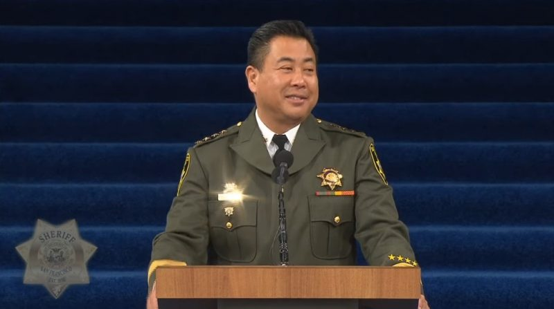 San Francisco swore in Paul Miyamoto as its 37th sheriff this week, making him the first Asian American to hold the law enforcement position in California.