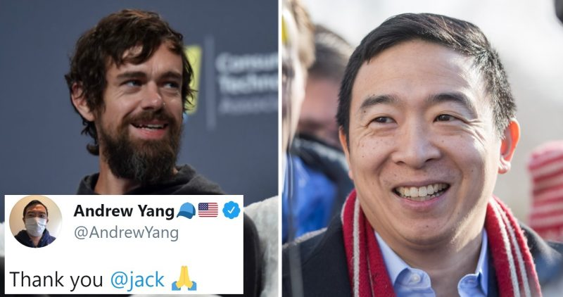 Andrew Yang Teams Up With Twitter CEO to Give Out $5 Million to Americans