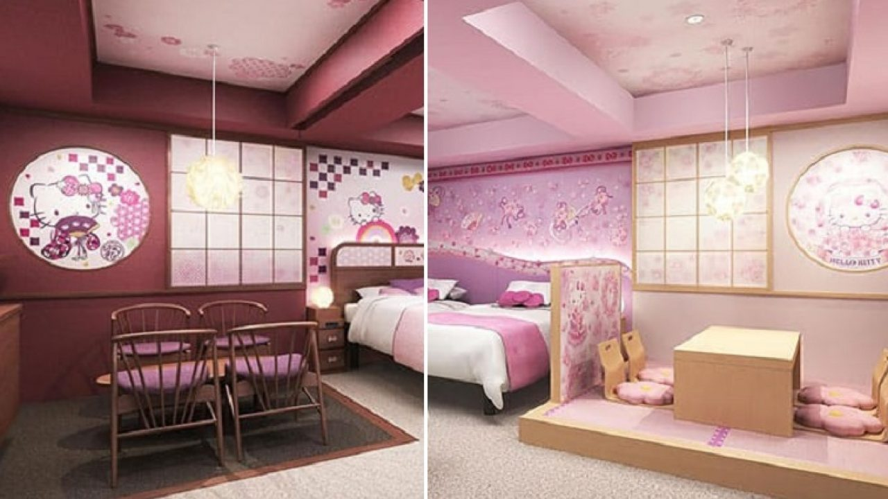 Hello Kitty Fans Can Now Dream In Pink Hotel Rooms