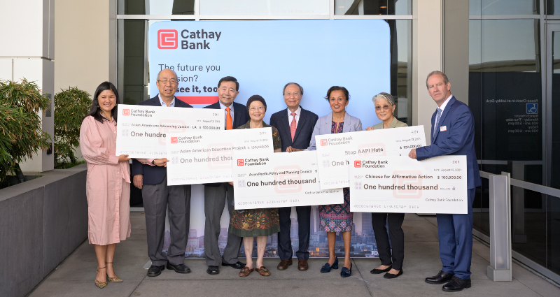 Cathay Bank Foundation donates $1 million to organizations promoting diversity and fighting anti-Asian hate.