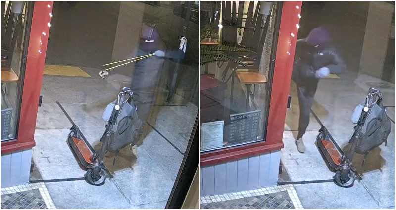 Vandalism by man on Chinese-owned businesses