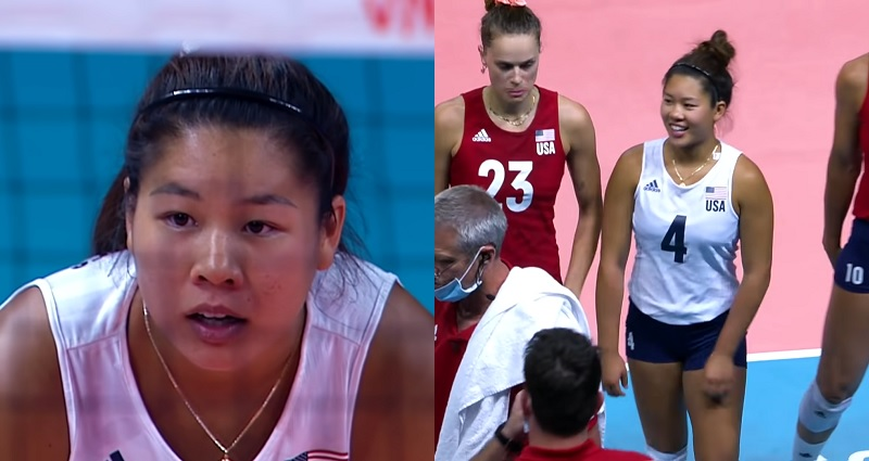 volleyball player helped Team USA win gold
