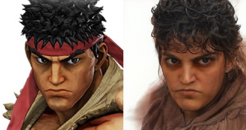Street Fighter characters get human faces