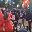 squid game outfits south korean workers protest